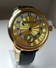 Systeme Glashutte 24K GoldPlated Case Antique 1923's Wristwatch, Exhibition Back