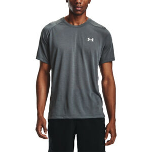 Under Armour Mens Streaker T Shirt Tee Top Grey Sports Running Breathable