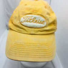 Vtg 1980s Titleist Golf Spell Out Logo Strapback Hat PGA Tour Baseball USA Made