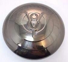 1933 Ford Car Stainless Hubcap V8 With Raised Rings Set 4 Hot Rod Rat Rod