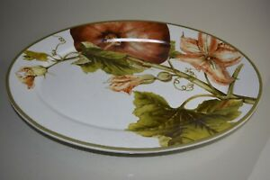 NEW Large Botanical Pumpkin Serving Platter Williams Sonoma Thanksgiving
