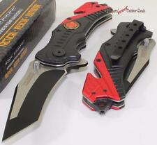 TAC-FORCE Fireman Fire Fighter Future Tanto Rescue Speed Spring Assisted Knife