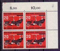 Bund BRD Kraftpost 1955 - MiNr 211 im 4erBlock postfrisch - Michel 48,00 € (205)