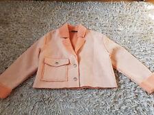 New Women's Zara TEXTURED JACKET Size M Peach