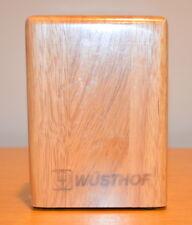 WUSTHOF 6-Slot Rubberwood Steak Knife Block #7251-1