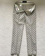 Paul Smith Donna Verde A Pois Pantaloni - Size 42 - 100% Lana