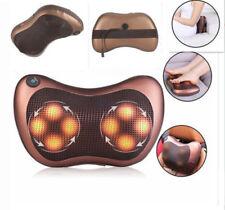 Electric Shiatsu Back Neck Back Foot Massager Kneading Massage Pillow w/Heat US