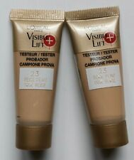 2 L'Oreal Visible Lift Foundation Samples 10ml each 23 True Beige