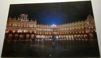 Spain Salamanca Plaza Mayor Vista Nocturna 8 - posted 1990