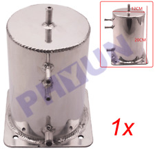 2 Liter Alloy Mirror Polished Aluminum Swirl Pot Universal Fuel Surge Cell Tank
