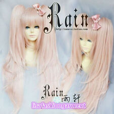 Danganronpa Dangan-Ronpa Junko Enoshima Cosplay pink Wig with ponytails