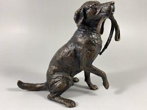 Bronze Labrador Sculpture By Michael Simpson.Limited Edition