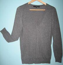 HALLHUBER basic - leichter Damen Pullover - Gr. S in hellgrau mit 71 % Bambus
