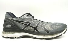 Asics Gel Nimbus 20 Gray Mesh Lace Up Athletic Running Shoes Men's 13