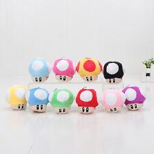 10pcs/lot 6 CM Super Mario Bros Mushroom Keychain Plush Toy Soft Stuffed Doll**