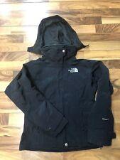 Womens The North Face HyVent Snowboard Ski Jacket Black Hooded Nylon Size XS