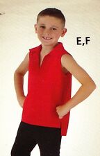 NWOT Boys large child red pullover collared dance top sleeveless Wolff Fording