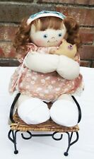 JAN SHACKELFORD 11 in RED HAIR LITTLE YOUNG'UN HAND-SEWN HAND PAINTED DOLL NEW
