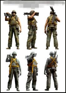 1:35 resin soldiers figure model Vietnam US soldier gunner(No bullet chain) E100