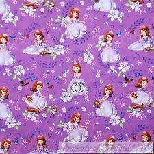 BonEful Fabric Cotton Quilt Purple Disney Princess Sophia Girl Doll L SALE SCRAP