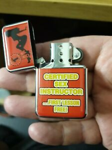 Hadson lighter funny zippo petrol sex instructor 1st lesson free