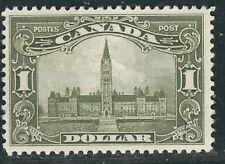 Canada Stamps 159 SG 285 $1 Olive Grn Parliament Blg MLH VF 1929 SCV $300.00