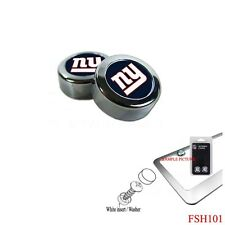 Brand New NFL New York Giants Chrome License Plate Frame Screw Caps