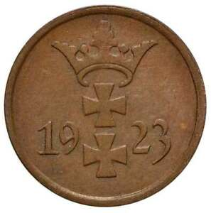 DANZIG 1 Pfennig 1923 AU