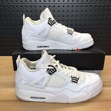 pick up 70817 8e28a Nike Air Jordan 4 IV Retro Pure Money White Silver 308497-100 Men s Size 13