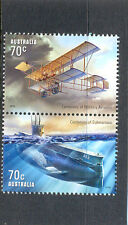 Australia-Military Aviation & Submarines new issue 2014 mnh gummed pair