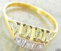 ✨Look Nice✨ Diamant Ring in aus 14kt 585 Gold Antik Brillant mit Diamond antique