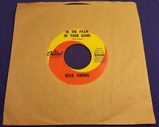 BUCK OWENS In Palm of Your Hand/Waitin In Your Welfare Line 45 Record Capitol