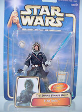 HAN SOLO Blue Coat Hoth Rescue #13~ Star Wars Saga 2003~ MOC~Empire Strikes Back