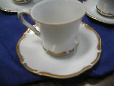 Harmony House Golden Starlight Cup and Saucer Set of Five