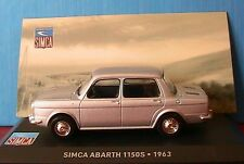 SIMCA ABARTH 1150S 1963 IXO 1/43 SILVER GRIS ARGENT NEW