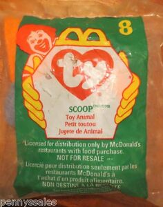 McDonald's Ty Teenie Beanie Scoop Pelican #8 1998