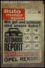 AMS Auto Motor Sport 14/64 Opel Rekord NSU Prinz 1000 Ghia 1500 GT