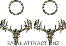 Camo Deer Skull S4 Cornhole Pack Vinyl Decal Sticker bean bag game buck hunt