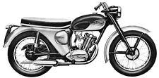 1962 Triumph T20 Tiger Cub Road Model Motorcycle Photo c445-AQAPG4