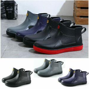 Mens Waterproof Short Wellington Wellies Boot Rain Boots Festival Shoes Size J1