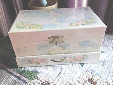VINTAGE 1970'S GIRLS MUSICAL BALLERINA  JEWELRY BOX  never used  VERY MINT