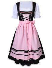 Dirndl Dress German Oktoberfest Costume Bavarian Beer Maid Fancy Dress S-2XL