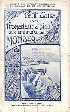 MONACO GUIDE DU PROMENEUR A PIED ENVIRONS DE MONACO 1914