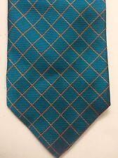 New Gene Meyer New York Square Grid  Silk Necktie Tie