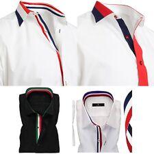 "Men's Shirt Italian Formal Shirts Dress Designer Luxury Cotton Shirts 15"" to 18"""