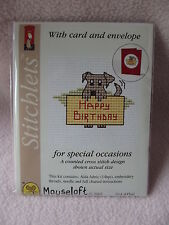 Mouseloft Special Occasion With Card Counted Cross Stitch Kit Mini Pyo Happy Birthday Dog