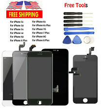 LCD Digitizer Display Touch Screen Assembly Home Button For iPhone 5 6 6S 7 8 US