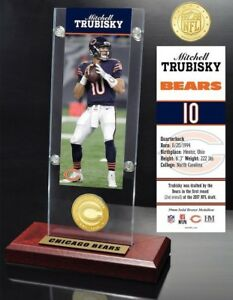 Mitchell Trubisky NFC Champs Chicago Bears PlayerTicket & Bronze Coin Collection