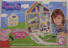Peppa Pig ~ Decorate Peppa's House ~ Build, Colour In & Play