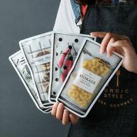 Snack Storage Hygienic Mason Jar Zip Lock Food Bags Zipper 12Pcs Reusable Fresh